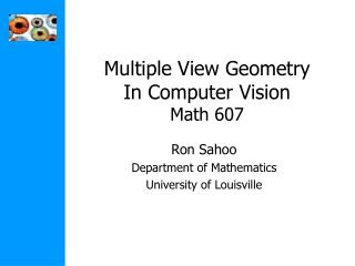 Multiple View Geometry In Computer Vision Math 607