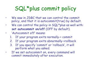 SQL*plus commit policy