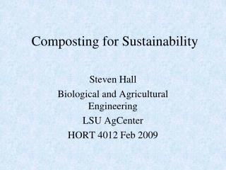 Composting for Sustainability