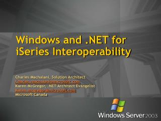 Windows and .NET for iSeries Interoperability