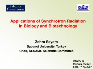 Applications of Synchrotron Radiation in Biology and Biotechnology
