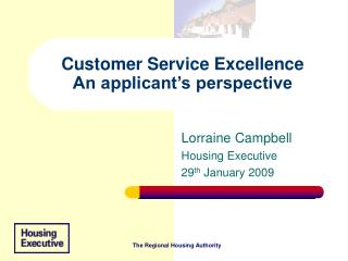 Customer Service Excellence An applicant's perspective