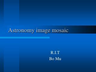 Astronomy image mosaic
