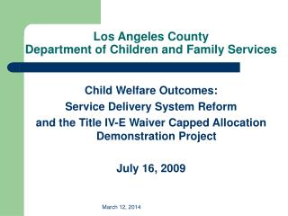 Los Angeles County Department of Children and Family Services
