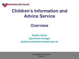 Children's Information and Advice Service