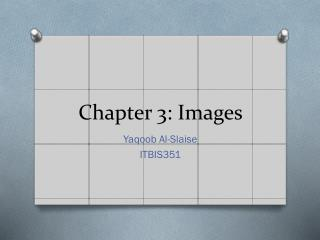 Chapter 3: Images