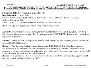 Project: IEEE P802.15 Working Group for Wireless Personal Area Networks (WPANs) ‏
