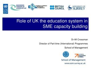 Role of UK the education system in SME capacity building