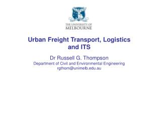 Urban Freight Transport, Logistics and ITS