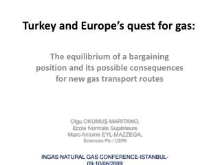 Turkey and Europe's quest for gas: