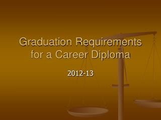 Graduation Requirements for a Career Diploma