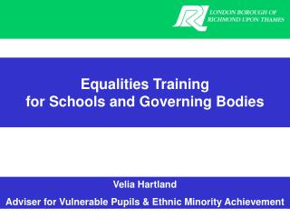 Equalities Training for Schools and Governing Bodies