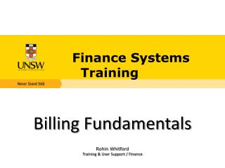 Finance Systems Training