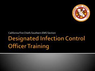 Designated Infection Control Officer Training