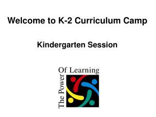 Welcome to K-2 Curriculum Camp Kindergarten Session