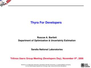 Thyra For Developers