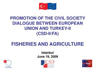 P ROMOTION OF THE CIVIL SOCIETY DIALOGUE BETWEEN EUROPEAN UNION AND TURKEY -II (CSD-II/FA)