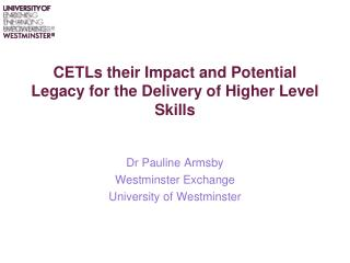 CETLs their Impact and Potential Legacy for the Delivery of Higher Level Skills