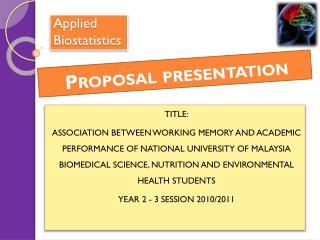 Applied Biostatistics