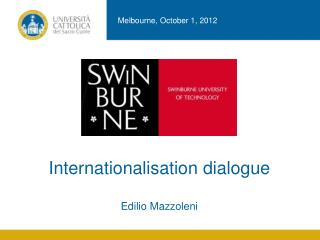 Internationalisation dialogue Edilio Mazzoleni