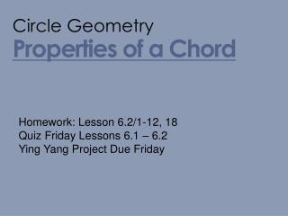 Properties of a Chord