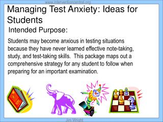 Managing Test Anxiety: Ideas for Students
