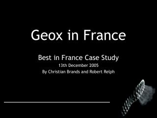 Geox in France