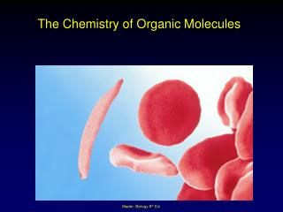 The Chemistry of Organic Molecules