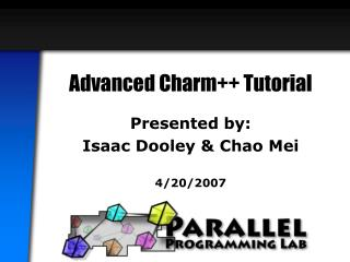 Advanced Charm++ Tutorial