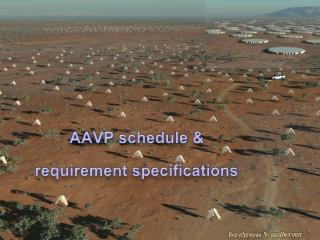 AAVP schedule &  requirement specifications