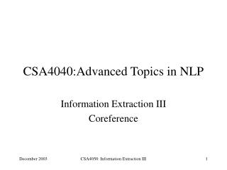 CSA4040:Advanced Topics in NLP