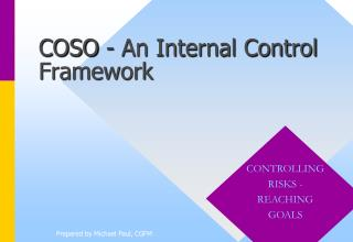 COSO - An Internal Control Framework