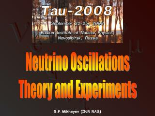 Neutrino Oscillations Theory and Experiments