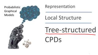 Tree-structured CPDs