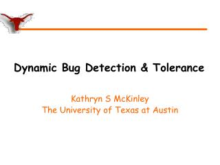 Dynamic Bug Detection & Tolerance
