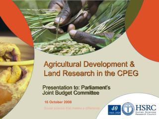 Agricultural Development & Land Research  in the CPEG