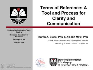Terms of Reference: A Tool and Process for Clarity and Communication