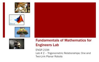 Fundamentals of Mathematics for Engineers Lab