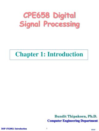 CPE658 Digital Signal Processing