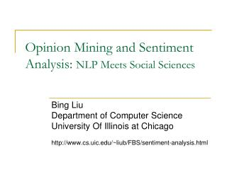 Opinion Mining and Sentiment Analysis:  NLP Meets Social Sciences