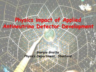 Physics impact of Applied Antineutrino Detector Development