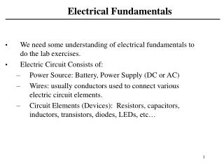 Electrical Fundamentals