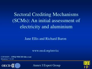 Sectoral Crediting Mechanisms (SCMs): An initial assessment of  electricity and aluminium