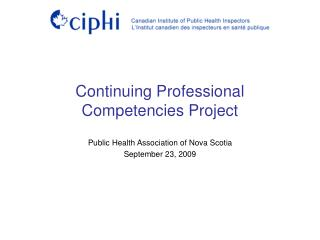 Continuing Professional Competencies Project