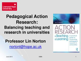 Pedagogical Action Research :  Balancing teaching and research in universities