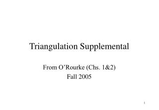 Triangulation Supplemental