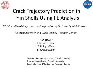 Crack Trajectory Prediction in Thin Shells Using FE Analysis