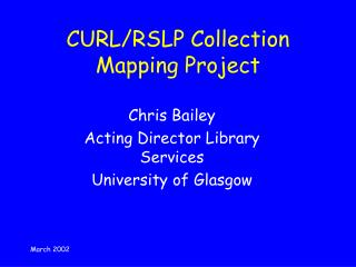 CURL/RSLP Collection Mapping Project