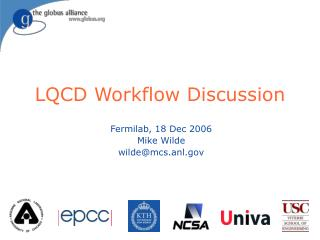 LQCD Workflow Discussion