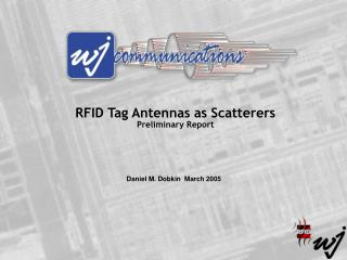 RFID Tag Antennas as Scatterers Preliminary Report
